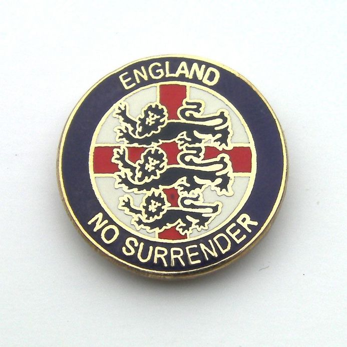 """No Surrender"" England Badge - Blue"
